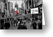 Hustle Bustle Greeting Cards - Times Square New York TOC Greeting Card by David Dehner