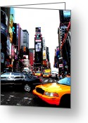 Anthony Jensen Greeting Cards - Times Square Vibrants  Greeting Card by Anthony Jensen