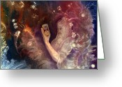 Spirit Rising Greeting Cards - Times Up Greeting Card by Sevan Thometz