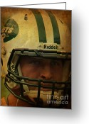 Player Photo Greeting Cards - Timothy Richard Tebow - Tim Tebow - New York Jets   Greeting Card by Lee Dos Santos