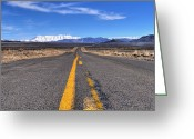 Yellow Line Greeting Cards - Timp Road Greeting Card by Jason Cameron