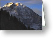 Snowy Range Greeting Cards - Timpanogos Dawn Greeting Card by Utah Images