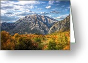 Western Sky Greeting Cards - Timpanogos From Cascade Meadows Greeting Card by William Church - Summit42.com
