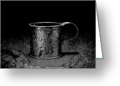 Chalice Greeting Cards - Tin Cup Chalice Greeting Card by John Stephens