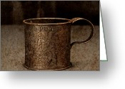 Chalice Greeting Cards - Tin Cup Chalice Square Greeting Card by John Stephens