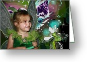 Pretending Greeting Cards - Tinkerbell Greeting Card by Ellen Henneke