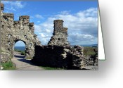 King Arthur Greeting Cards - Tintagel Castle 2 Greeting Card by Kurt Van Wagner