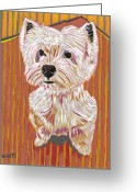 Westie Greeting Cards - Tiny Dancer Greeting Card by David  Hearn
