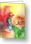 Greet Greeting Cards - Tip Toe Cowboy Greeting Card by Sharon Mick