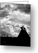 Great Plains Greeting Cards - Tipi Greeting Card by Bob Orsillo