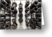 Wheels Greeting Cards - Tire Rack Greeting Card by Kelley King