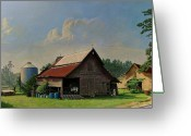 Old Country Roads Painting Greeting Cards - Tired and Retired Greeting Card by Doug Strickland