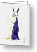 Martini Drawings Greeting Cards - Tis Absolutly Greeting Card by Tis Art
