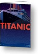 Historic Greeting Cards - TITANIC 100 years Commemorative Greeting Card by Leslie Alfred McGrath