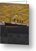 Catastrophe Greeting Cards - Titanic centennial Greeting Card by Stephane Le Blan