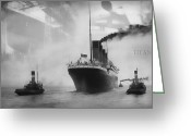 Olympic Greeting Cards - Titanic Greeting Card by Chris Cardwell