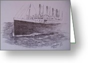 Maiden Drawings Greeting Cards - Titanic Greeting Card by Paul Chestnutt