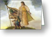 Jesus Painting Greeting Cards - Title of Liberty Greeting Card by Jeff Brimley