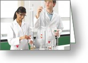 Youths Greeting Cards - Titration Experiments Greeting Card by