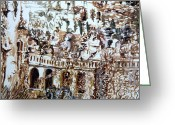 Bannister Greeting Cards - Tivili Fountains Greeting Card by Mindy Newman