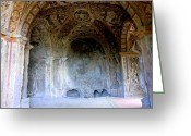 Greek Sculpture Digital Art Greeting Cards - Tivili Grotto Greeting Card by Mindy Newman