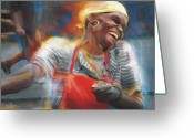 Haitian Greeting Cards - To Laugh Again Greeting Card by Bob Salo