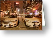 New York City Police Greeting Cards - To Serve And Protect Greeting Card by Evelina Kremsdorf