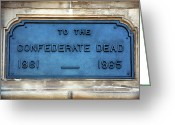 Savannah Artist Greeting Cards - To the Confederate Dead Greeting Card by John Rizzuto
