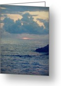 Dusk Greeting Cards - To the Ends of the Earth Greeting Card by Laurie Search