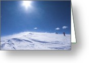 Mountain Summit Greeting Cards - To the Sky Greeting Card by Ryan Heffron