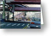 New York City Painting Greeting Cards - To The Triboro Greeting Card by Patti Mollica