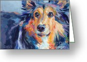 Sheltie Greeting Cards - Toby Greeting Card by Kimberly Santini