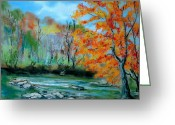 River Pastels Greeting Cards - Toccoa River Greeting Card by Pete Maier