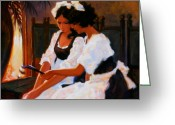 Waitresses Greeting Cards - Todays Special Greeting Card by Kevin Lawrence Leveque