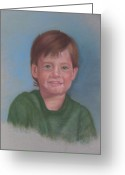 Little Boy Pastels Greeting Cards - Todd Greeting Card by Shelly Crippen