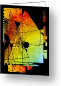 Vertical Abstract Greeting Cards - Together Greeting Card by Ann Powell