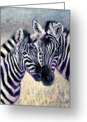 Pastels Pastels Greeting Cards - Together Greeting Card by Arline Wagner