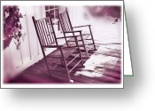 Rocking Chairs Greeting Cards - Together Forever Greeting Card by Mal Bray
