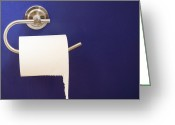 Toilet Paper Greeting Cards - Toilet Paper Dispenser Greeting Card by Marlene Ford