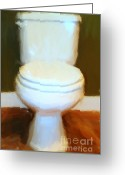 Urinal Greeting Cards - Toilet Greeting Card by Wingsdomain Art and Photography