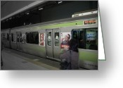 Metro Greeting Cards - Tokyo Metro Greeting Card by Irina  March
