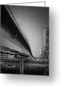 Traffic Greeting Cards - Tokyo Overpass Greeting Card by Irina  March