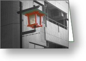 Traffic Greeting Cards - Tokyo Street Light Greeting Card by Irina  March