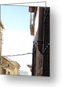 Toledo Greeting Cards - Toledo Alley View II Greeting Card by John A Shiron