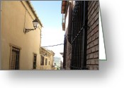 Toledo Greeting Cards - Toledo Alley View Greeting Card by John A Shiron