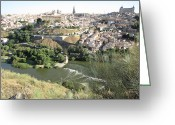 Toledo Greeting Cards - Toledo Morning Greeting Card by John A Shiron