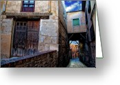 Old Street Photo Greeting Cards - Toledo Passage  Greeting Card by Harry Spitz