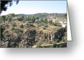 Toledo Greeting Cards - Toledo Spanish Home with A View Greeting Card by John A Shiron
