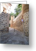 Toledo Greeting Cards - Toledo Stone Pathway Greeting Card by John A Shiron