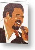 Portrait Reliefs Greeting Cards - Tom Jones Greeting Card by Kovats Daniela
